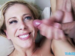 Charming Cherie Deville rides his dick and gets glazed