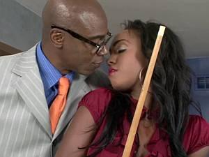 Lovely Layton gets her sweet ebony pussy pummeled