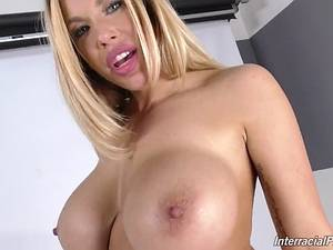 Interracial porn with busty MILF Olivia Austin and her black fucker
