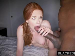 Ella Hughes exerting herself with that huge black cock of Mandingo