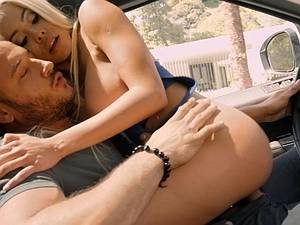 Busty blonde hottie gets picked up and absolutely smashed