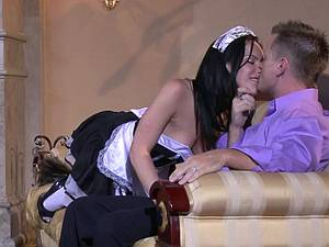 Horny maid will do anything for the master