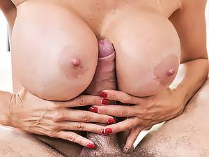 Large oiled boobs MILF Alexis Fawx takes huge cock