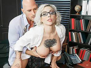 Dean Johnny Sins holds a sex education lesson with a lustful schoolgirl