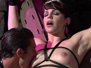 Locked tied and tortured in the dungeon of extreme pleasure