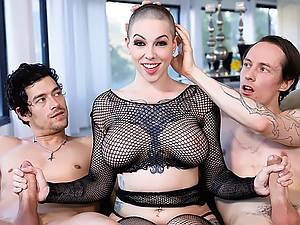 Xander Corvus and his buddy have sex with his big boobs stepmother